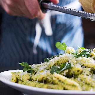 Fresh Cavatelli with Pea Shoot Pesto