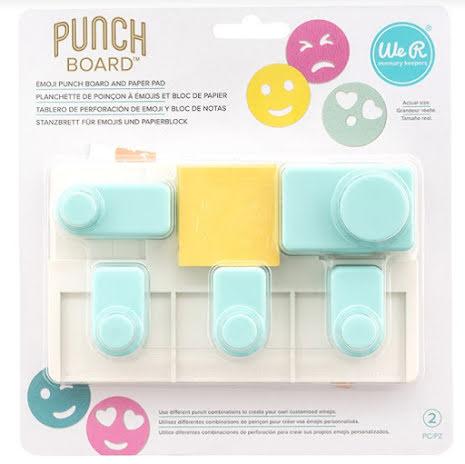 We R Memory Keepers Punch Board - Emoji