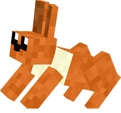 Rabbit brown = eevee. Eevee evolutions into a 8 pokemons: vaporeon = water stone, jolteon = thunder stone, flareon = fire stone, espeon = happiness only day, umbreon = happiness only night, leafon = level up at moss rock, glaceon = level up at ice rock, sylveon = level up, level up 2 and known magic motion.