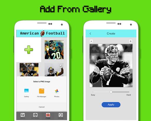 American Football Player Color By Number - Pixel apktram screenshots 8