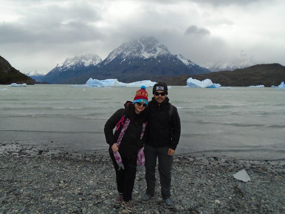 Passando frio no Glaciar