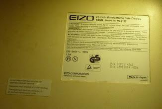 Photo: Eizo 6500M product label