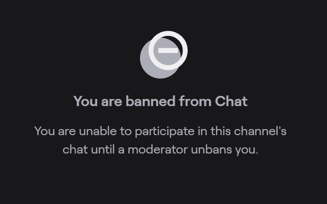 Twitch ban incognito chat