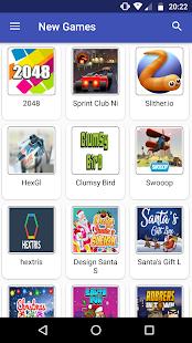 Web Games Portal - náhled