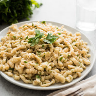Homemade Spaetzle in Brown Butter
