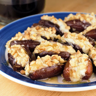 Gorgonzola Walnut Stuffed Dates.