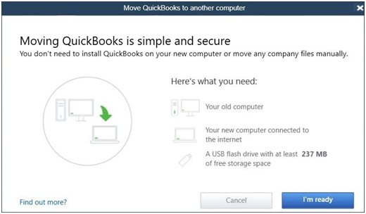 Move QuickBooks to a new computer - Screenshot 1