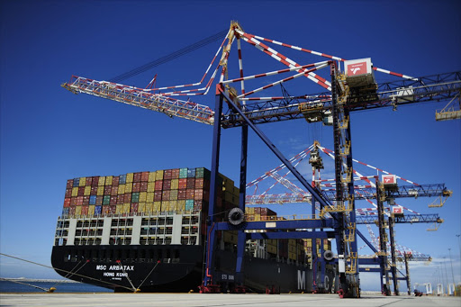 Ships being off-loaded at the Port of Ngqura in the Nelson Mandela Bay metro. File photo.