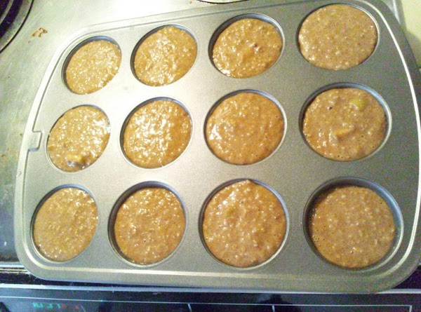 Fill the muffin pan with batter. Side note: Don't make the same mistake I did;...