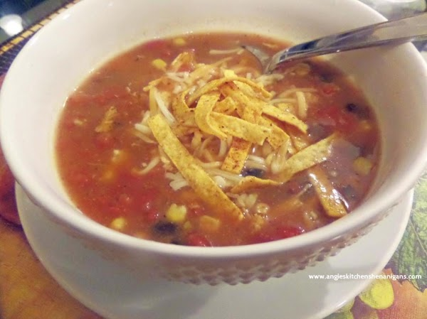 Quick Mexican Chicken Tortilla Soup Recipe