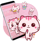 Cute Pink Kitty Theme Kawaii Sweet icon