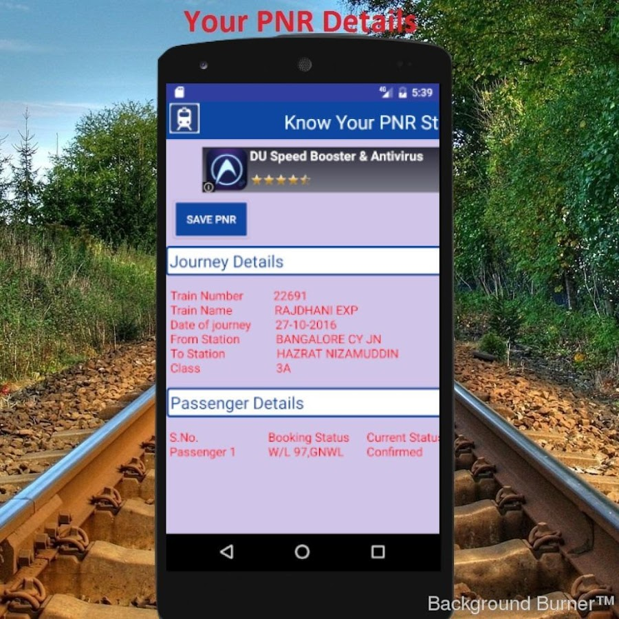 Live Indian Rail Train Info- screenshot