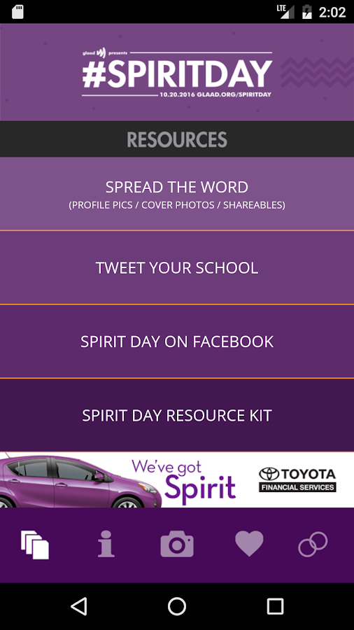 Go Purple for #SpiritDay- screenshot