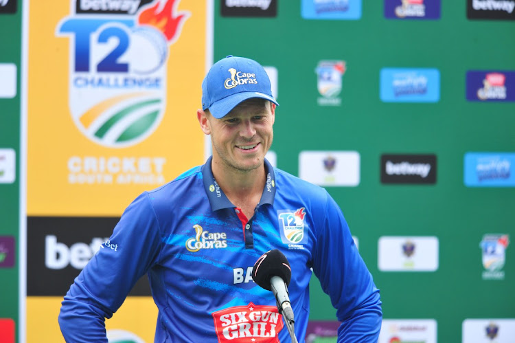 George Linde of the Cape Cobras at Kingsmead, Durban. Picture: GALLO IMAGES/DARREN STEWART