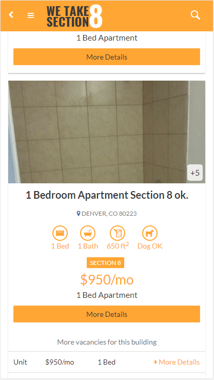 Section 8 And Affordable Rentals Screenshot