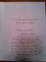 Photo: Inside of card from my sis