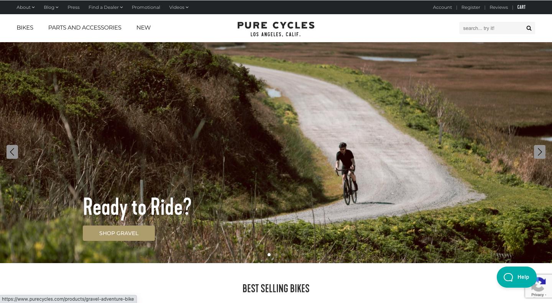 PURE CYCLESは、ロードバイクなどの自転車をネットショップと実店舗で販売しています。Shopify ARを活用し、スマホを通じて商品の3Dデータを実世界に表示することができます。