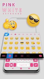 Pink White Chat Keyboard Theme
