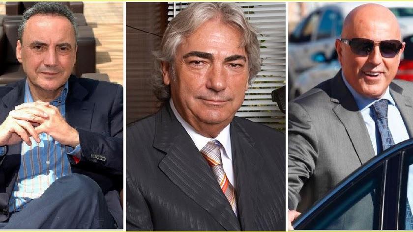 Francisco Martínez- Cosentino, Manuel Lao Hernández y Tomás Olivo.