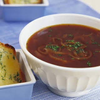 Beef Oxtail Soup with Cheese Toasts.
