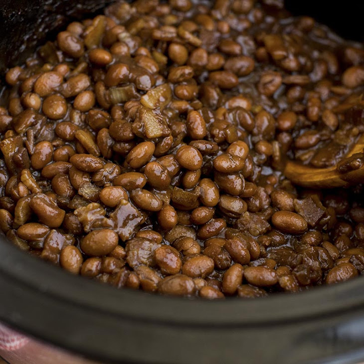 Slow Cooker Baked Beans with Bacon Recipe