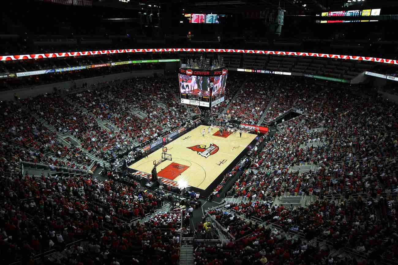 LOUISVILLE, KY - NOVEMBER 25: A general view of the inside of the arena during the Louisville Cardinals game against the Ohio Bobcats at KFC YUM! Center on November 25, 2011 in Louisville, Kentucky. (Photo by Andy Lyons/Getty Images)