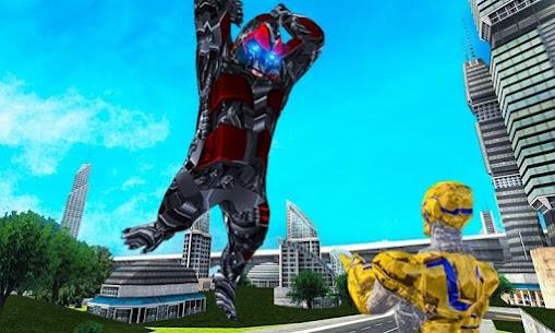 Futuristic Robot Transforming Gorilla Attack City 4