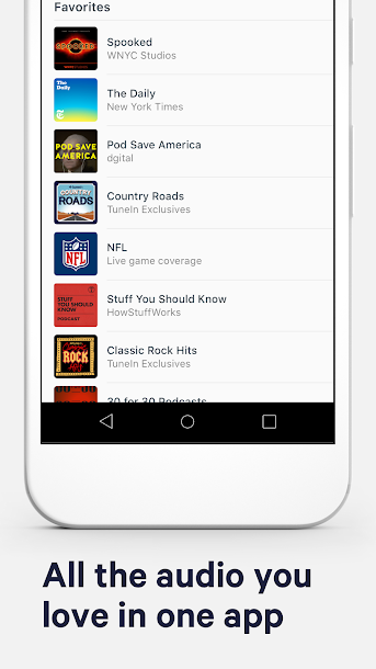 TuneIn: Stream NFL Radio, Music, Sports & Podcasts Android 3