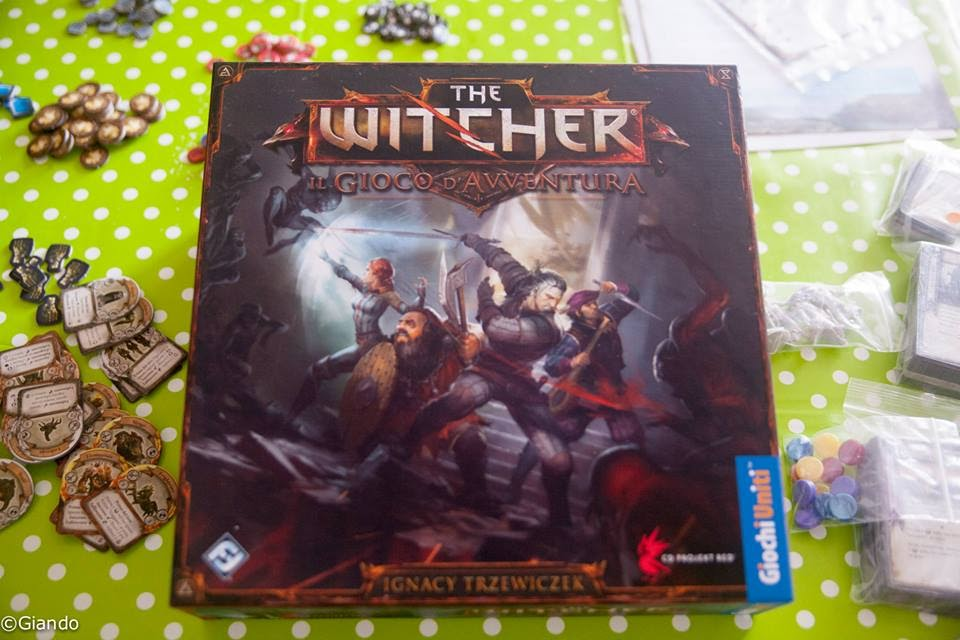 La scatola di The Witcher GdA