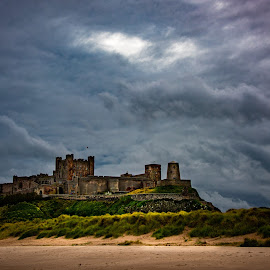 by Stephen  Barker - Buildings & Architecture Public & Historical ( castle, stormy, northumberland, beach, clouds )