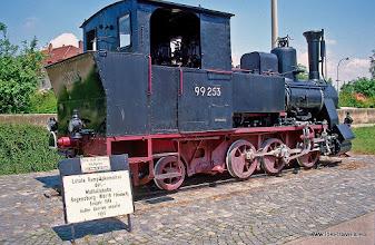 Photo: Regensburg. Laatste locomotief van de Walhallabahn.