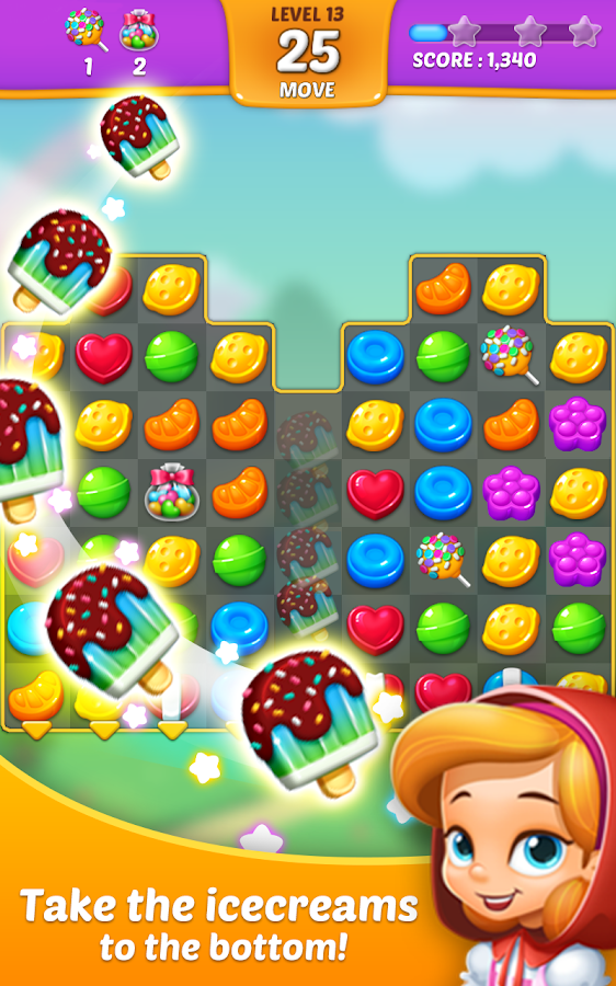Lollipop: Sweet Taste Match 3- screenshot