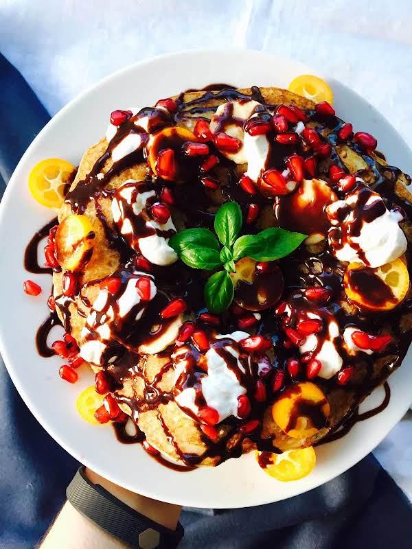 Tutti-frutti Fluffy Pancake Cake With Fruits Recipe