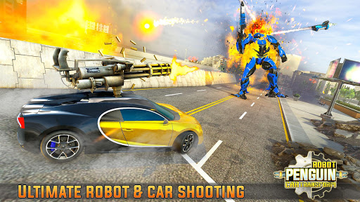 Penguin Robot Car Game: Robot Transforming Games 4 screenshots 14