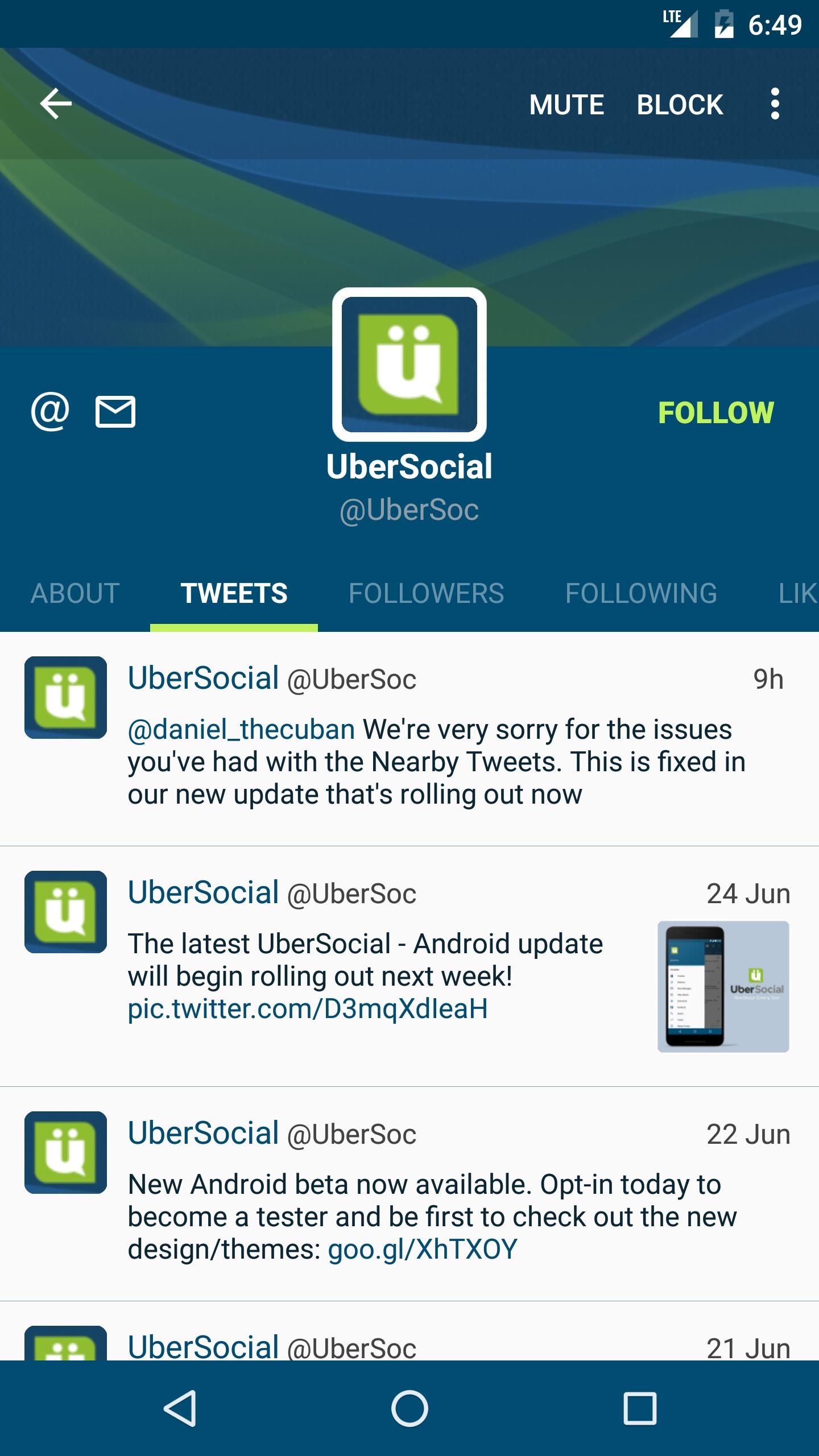 UberSocial for Twitter screenshot #2