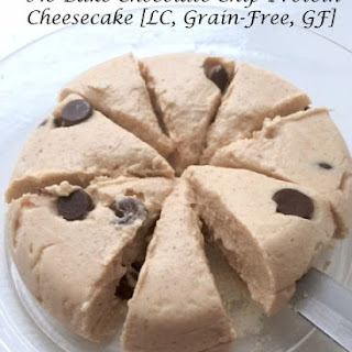 No Bake Chocolate Chip Protein Cheesecake [LC, Grain-free, GF].