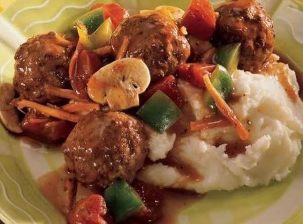 Baked Meatballs W/vegetable Gravy Recipe