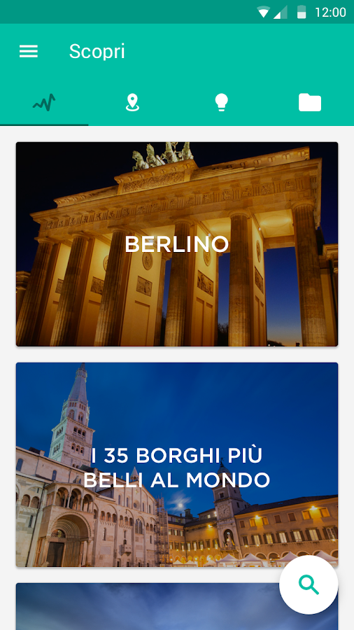 La app per viaggiare - minube- screenshot