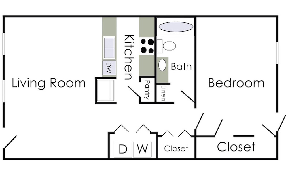 the johanna floorplan  1 bed  1 bath
