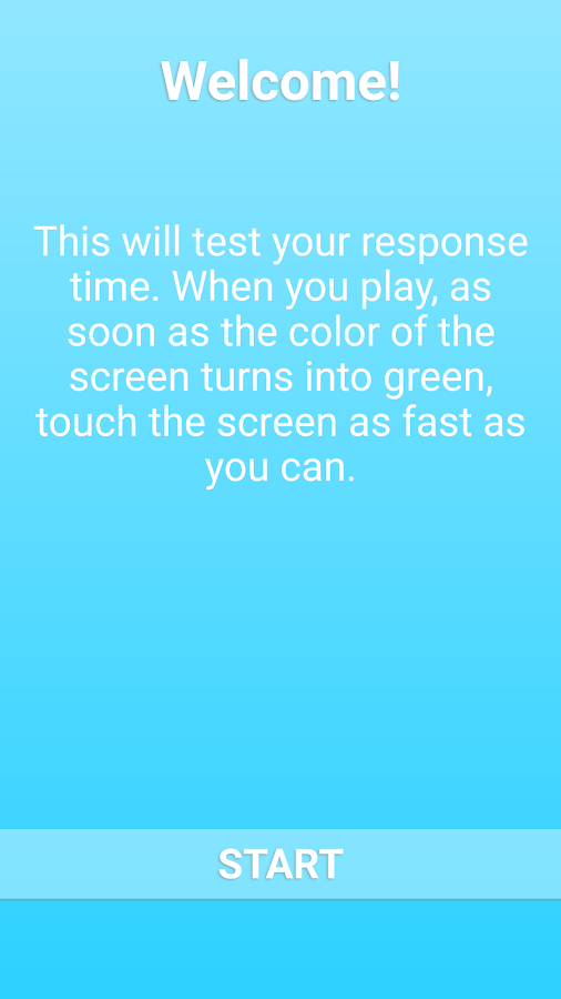 Wait Now - reaction time test- screenshot
