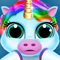 Baby Unicorn Pet Nursery - Care and Dress up APK