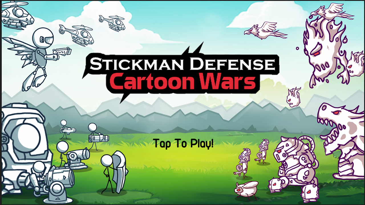 Stickman Defense: Cartoon Wars- screenshot