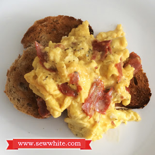 Mediterranean Inspired Scrambled Eggs