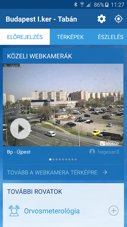 Időkép- screenshot