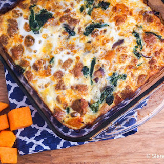 Sausage and Butternut Squash Breakfast Casserole.