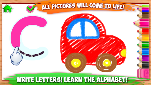 ABC DRAW ud83cudfa8 Kids Drawing! Alphabet Games Preschool  screenshots 13