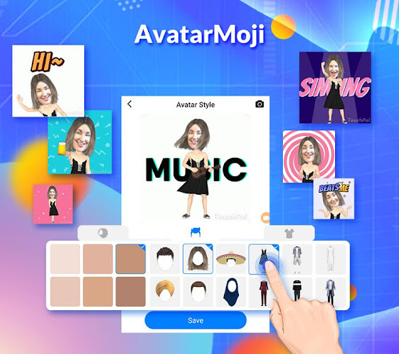 TouchPal Keyboard-Cute Emoji,theme, sticker, GIFs Android App Screenshot