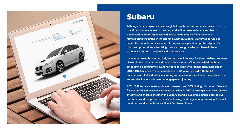Block Text Form Example of Subaru Sedan