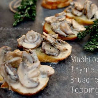 How to make Mushroom and Thyme Bruschetta Topping.