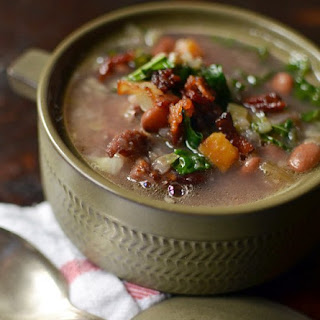 Ham Bone, Greens, and Bean Soup.